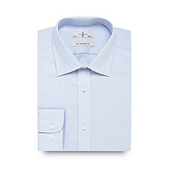 J by Jasper Conran - Big and tall blue textured tailored fit shirt