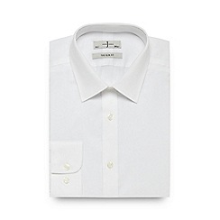 J by Jasper Conran - Big and tall white textured slim fit shirt