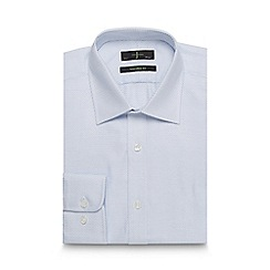 J by Jasper Conran - Blue dobby tailored fit shirt
