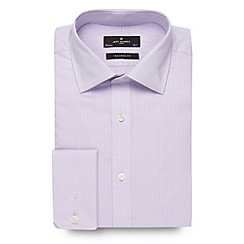 Jeff Banks - Big and tall designer lilac striped extra long sleeved shirt
