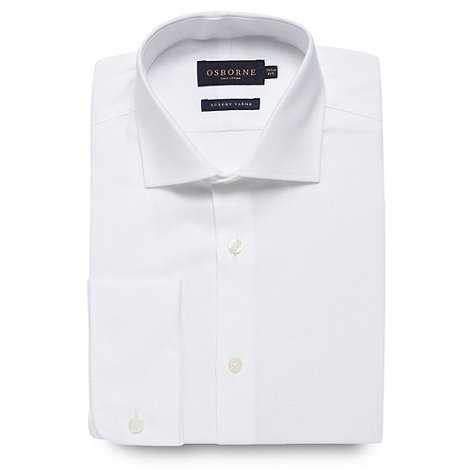 Osborne - White oxford extra long sleeve shirt