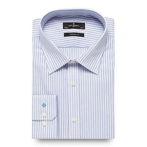 Jeff Banks - Big and tall designer blue regular fit striped long sleeved shirt