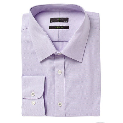 J by Jasper Conran - Desginer lilac regular fit textured long sleeves and body shirt