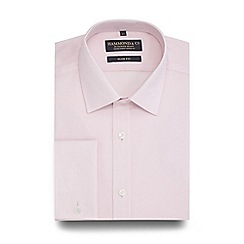 Hammond & Co. by Patrick Grant - Big and tall pink mini grid checked slim fit shirt