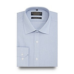 Hammond & Co. by Patrick Grant - Blue printed tailored fit shirt