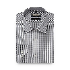 Hammond & Co. by Patrick Grant - Navy textured striped tailored fit shirt