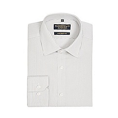Hammond & Co. by Patrick Grant - Grey striped tailored fit shirt