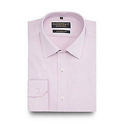 Hammond & Co. by Patrick Grant - Big and tall pink grid checked tailored fit shirt