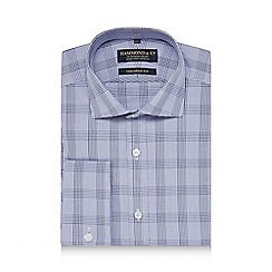 Hammond & Co. by Patrick Grant - Navy Prince of Wales checked shirt