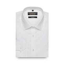 Hammond & Co. by Patrick Grant - White textured slim fit shirt
