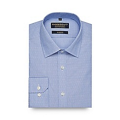Hammond & Co. by Patrick Grant - Big and tall blue dobby slim fit shirt