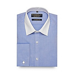 Hammond & Co. by Patrick Grant - Blue contrasting collar tailored fit shirt