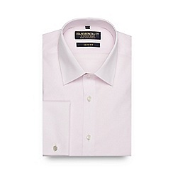 Hammond & Co. by Patrick Grant - Big and tall pink textured slim fit shirt