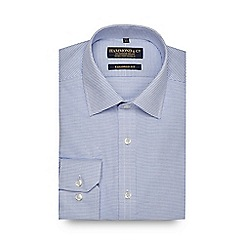 Hammond & Co. by Patrick Grant - Big and tall blue dobby tailored fit shirt