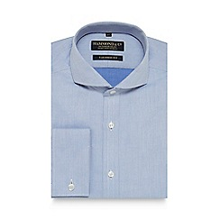 Hammond & Co. by Patrick Grant - Blue herringbone print tailored fit shirt