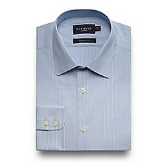 Osborne - Big and tall blue striped shirt