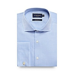 Osborne - Big and tall blue regular fit oxford shirt