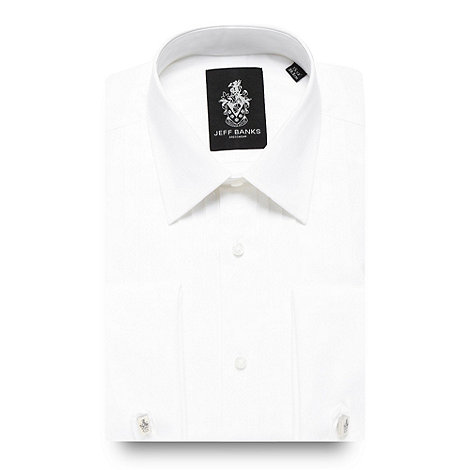 Jeff Banks - Designer white pleat front regular fit dress shirt