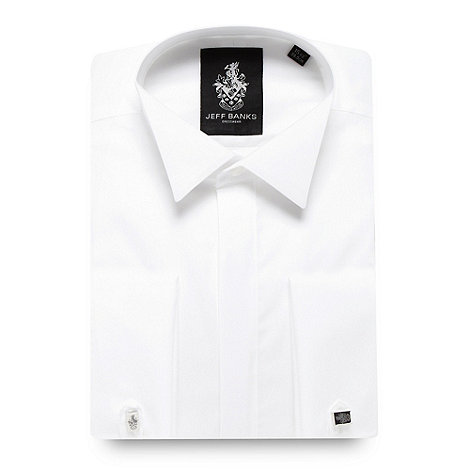 Jeff Banks - Designer white wing collar regular fit dress shirt