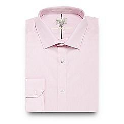 Racing Green - Pink twill regular fit shirt