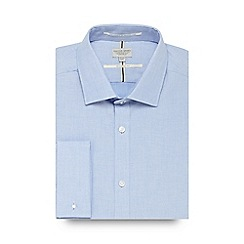 Racing Green - Blue twill regular fit shirt