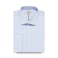 Racing Green - Big and tall blue striped tailored fit shirt