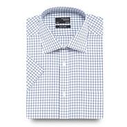 Blue grid checked shirt