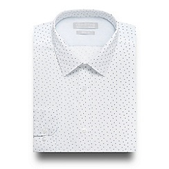 Red Herring - White spot print slim fit shirt