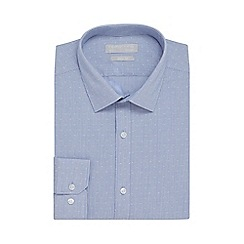 Red Herring - Blue textured striped slim fit shirt