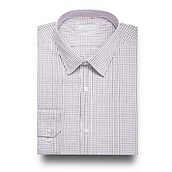 Red Herring - White grid print slim fit shirt