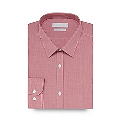 Red Herring - Red mini checked slim fit shirt