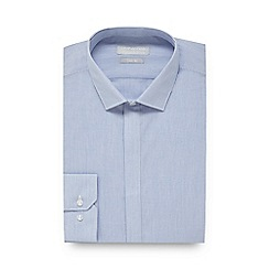 Red Herring - Blue fine striped slim fit shirt