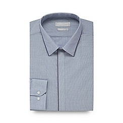 Red Herring - Blue contrast slim fit shirt