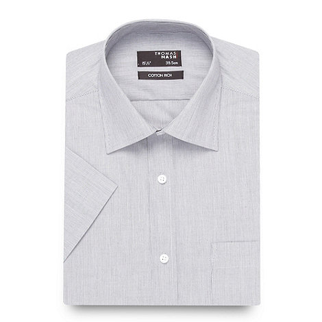 Thomas Nash - Big and tall grey fine stripe shirt