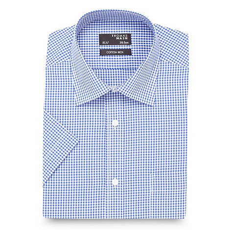 Thomas Nash - Blue gingham shirt