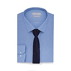 Red Herring - Blue easy care slim fit shirt