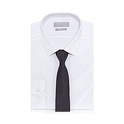 Red Herring - White slim fit shirt with a tie
