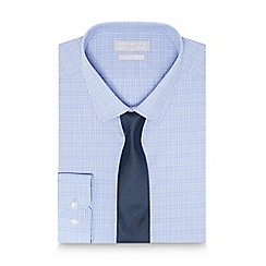 Red Herring - Blue checked print slim fit shirt