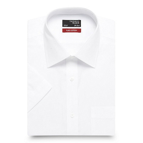 Thomas Nash - White plain cotton shirt