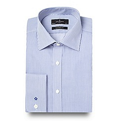 Jeff Banks - Big and tall designer blue fine striped shirt