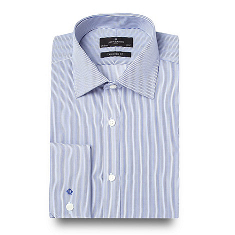 JEFF BANKS Designer blue fine striped shirt - WAS £38.00