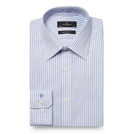 Jeff Banks - Blue striped tailored fit shirt