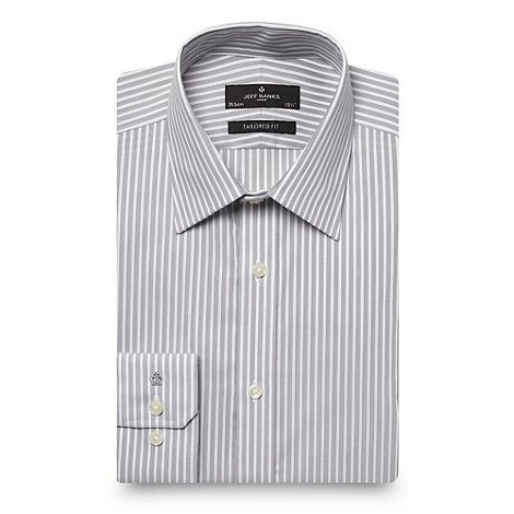 Jeff Banks - Grey stripe pattern shirt