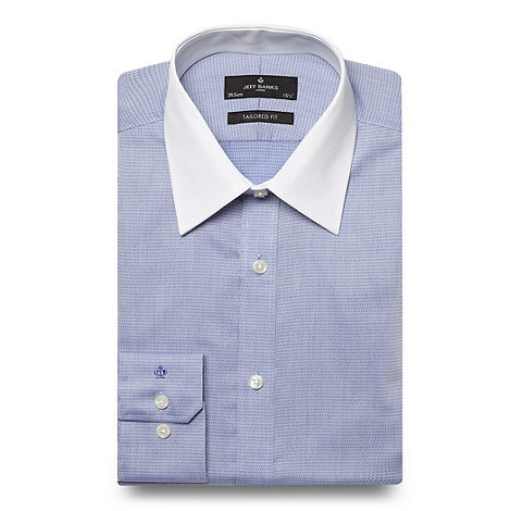 Jeff Banks - Blue textured pattern shirt