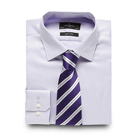 Jeff Banks - Designer lilac textured shirt and tie
