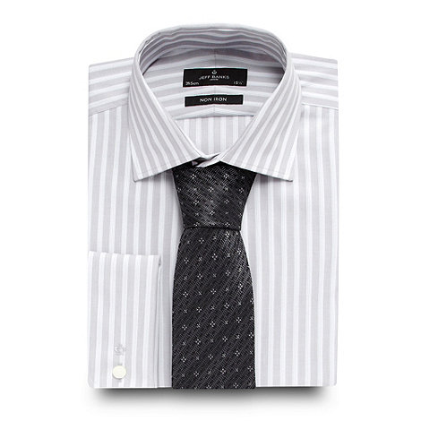 Jeff Banks - Designer light grey striped shirt and tie set