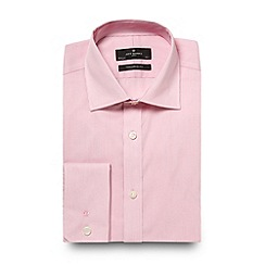 Jeff Banks - Big and tall designer pink fine stripe shirt