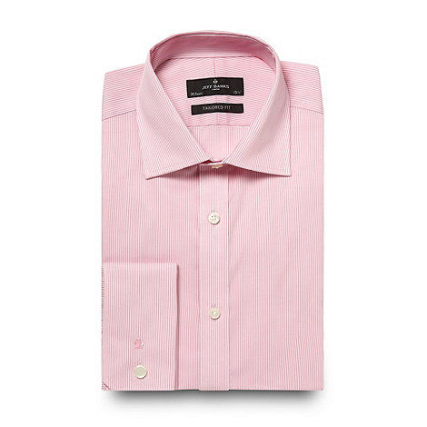 Jeff Banks - Designer pink fine stripe shirt