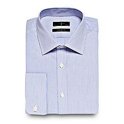 J by Jasper Conran - Big and tall lilac fine alternating striped tailored shirt