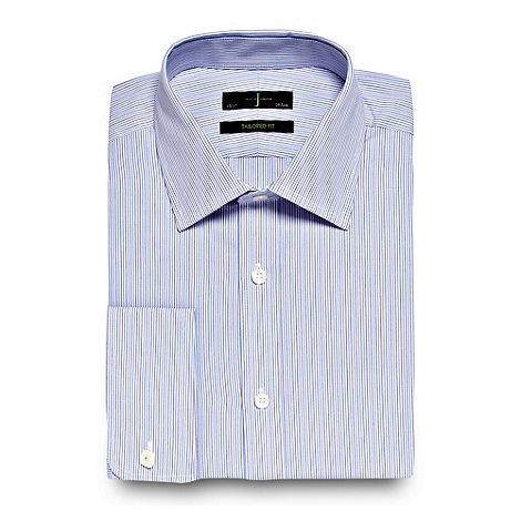 J by Jasper Conran - Lilac fine alternating striped tailored shirt